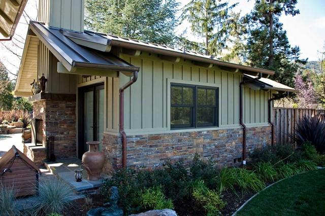 Bay Area Outdoor Living Areas Pool House Stone Masonry