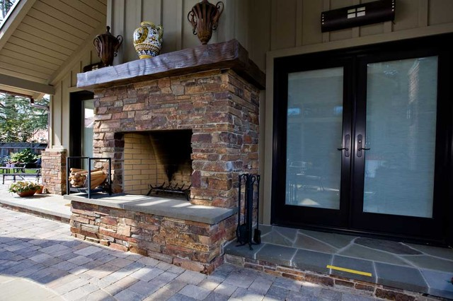 Bay Area Outdoor Living Areas: Pool House, Stone Masonry Fireplace, Pergola traditional-exterior
