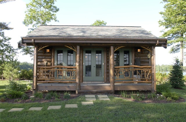 Bay lake cabin rustic exterior minneapolis by for Lake cabin design ideas