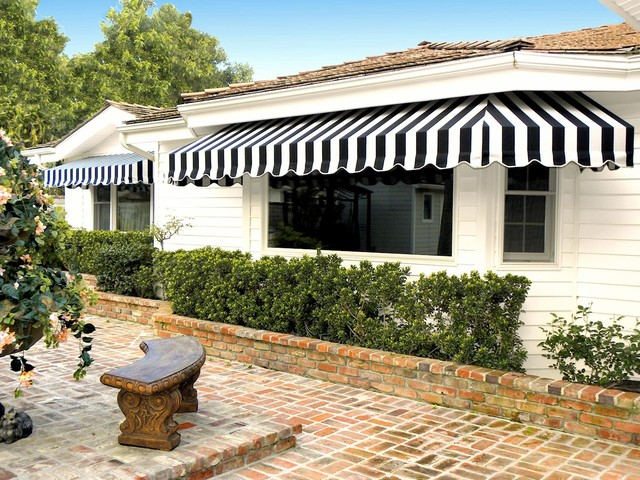 Bay Window Awning Traditional Exterior Los Angeles