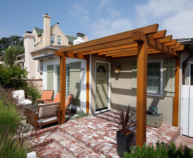 Front Elevation Pergola Design : Beach bungalow style exterior los angeles by