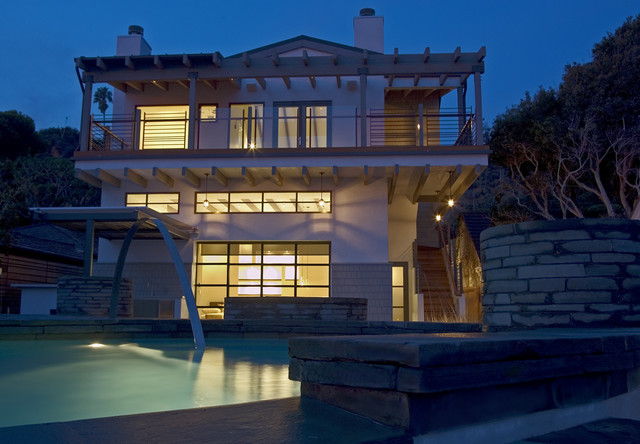Beach Cottage Compound contemporary-exterior