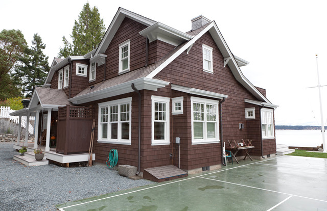 Beach cottage beach style exterior seattle by for Beach cottage exterior design