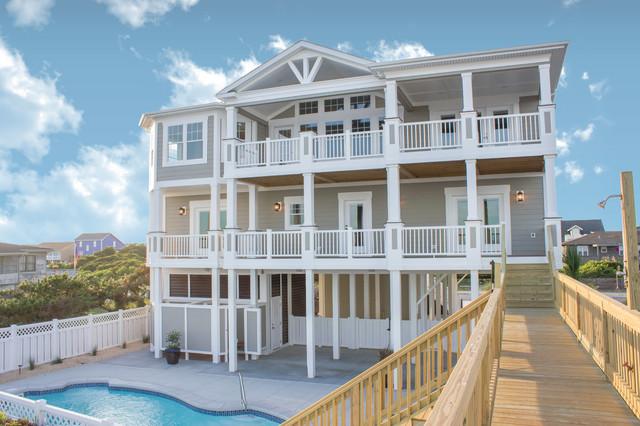 Beach home 122 beach style exterior wilmington by for Coastal themed house
