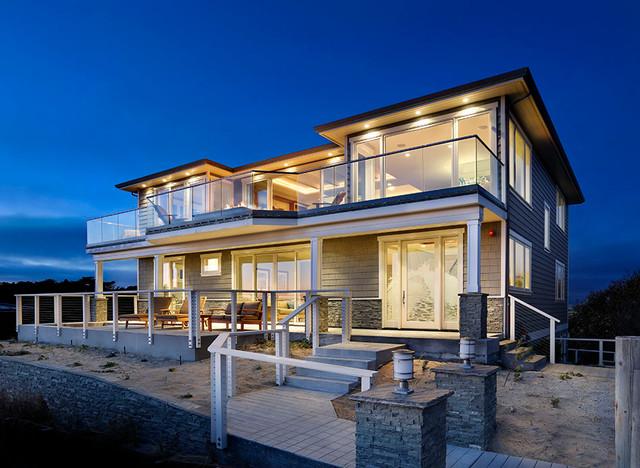 Beach House Modern Craftsman For Bord De Mer Facade