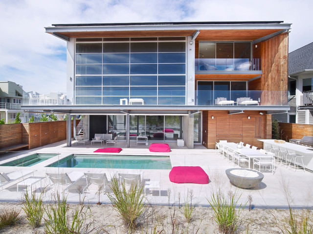 Beach house on long island beach style exterior Modern house architect new york