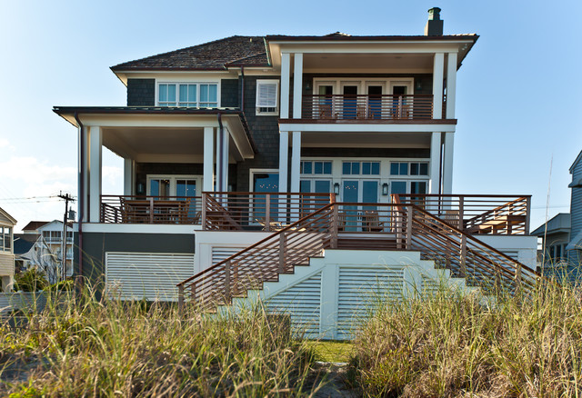 New construction atlantic beach ocean front home beach for Beach style house exterior
