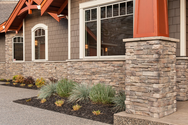 Beautiful custom home featuring cape cod uintah ledgestone for Exterior ledgestone