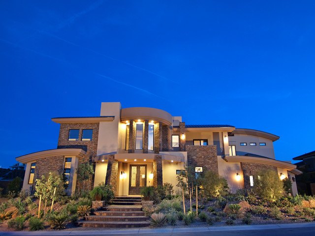 Beautiful mediterranean exterior las vegas by for Elegant homes for sale