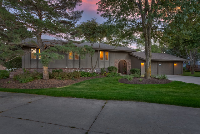 Beautiful lake home remodel ongoing valley ne beach for Exterior remodel and design omaha