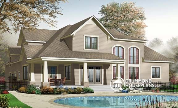Beautiful Top Selling Traditional House Plan No. 2659 By Drummond House  Plans Farmhouse