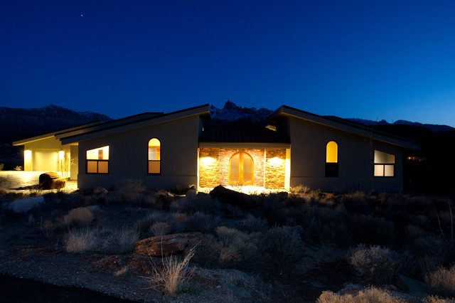 Beautiful zion 39 s canyon home mediterranean exterior for Richardson custom homes