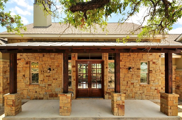 Bee Hive Ln Rustic Exterior Austin By Capstone