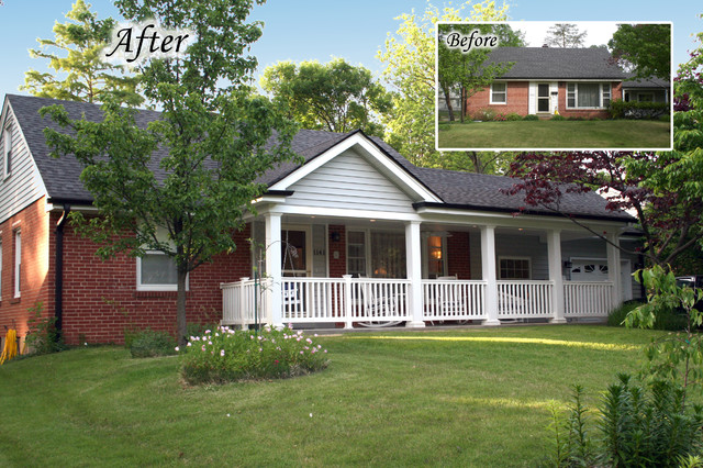 before and after gallery traditional exterior st louis by