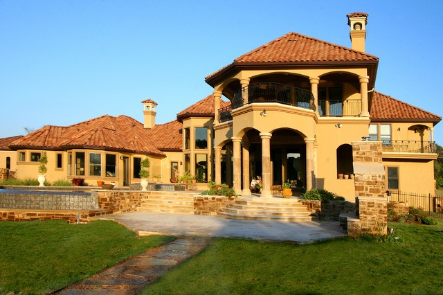 Bellagio estates of steiner ranch on lake austin austin for Custom mediterranean homes