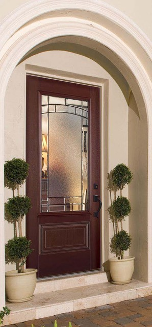 Belleville 1 panel hollister door 3 4 lite with element for Belleville fiberglass doors