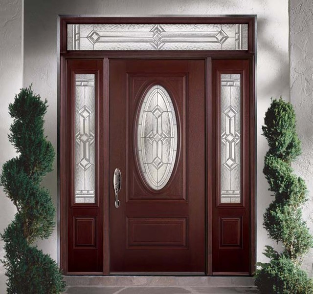 Belleville mahogany textured 2 panel hollister door 3 4 Belleville fiberglass doors