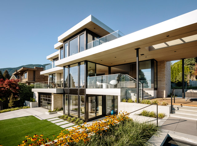 Bellevue Avenue Home contemporary-exterior