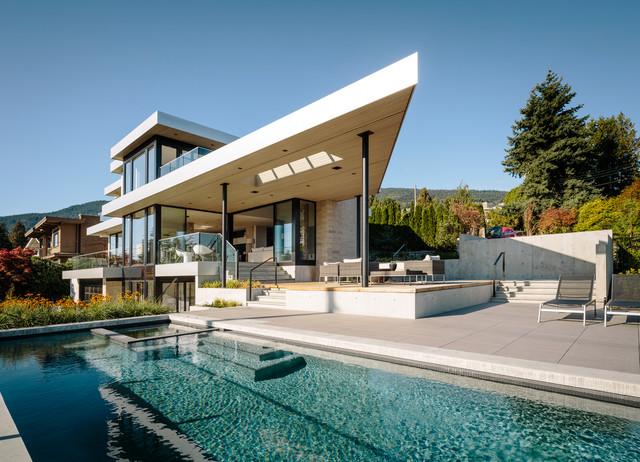 Bellevue Avenue Home contemporary-exterior