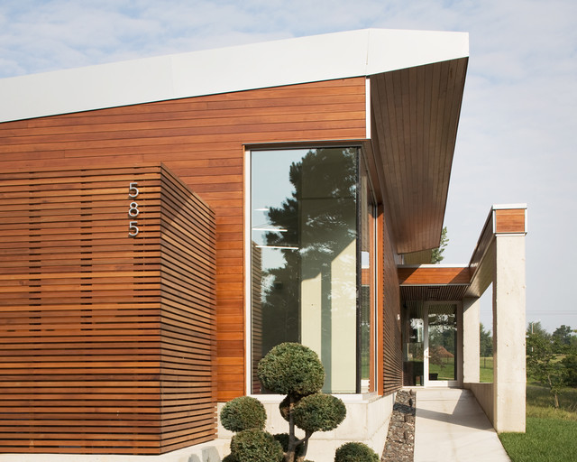 Bent/Sliced House modern exterior