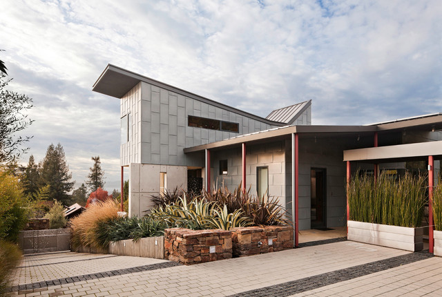 Berkeley Courtyard House modern exterior
