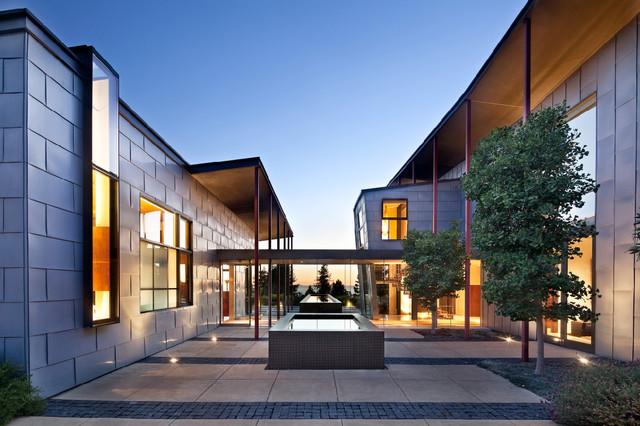 Berkeley courtyard house contemporary exterior san for Courtyard architecture design