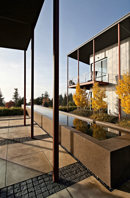 Berkeley Courtyard House contemporary-exterior