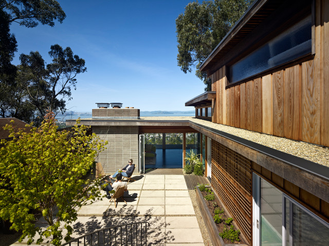 Berkeley hills house modern exterior san francisco by yamamar design for Berkeley extension interior design