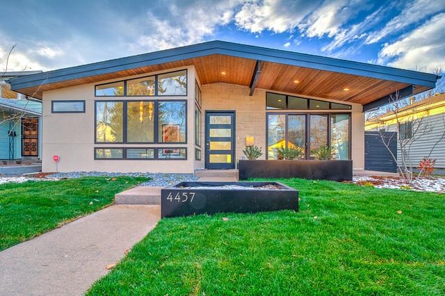 Berkeley Park Mid Century Modern Ranch New Construction Midcentury Exterior Denver By