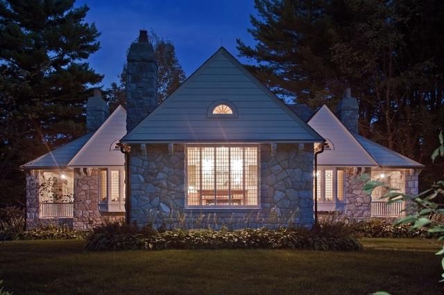 Berkshires Guest House Renovation eclectic-exterior