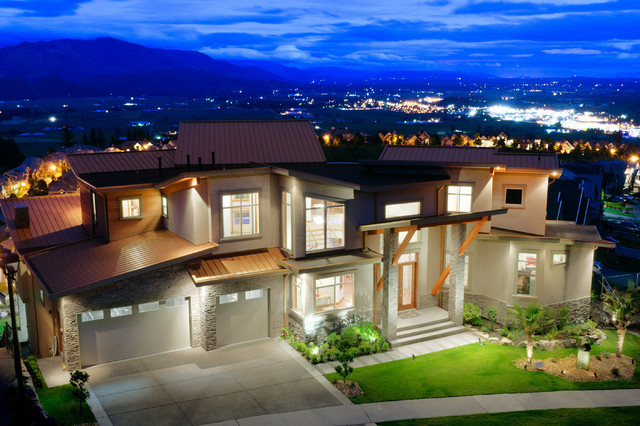 Bespoke Home on Eagle Summit contemporary-exterior