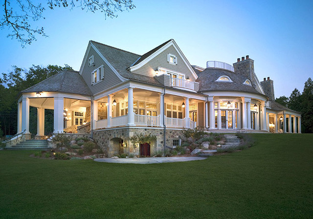 Big cedar lake shingle style victorian exterior for Shingle style house plans
