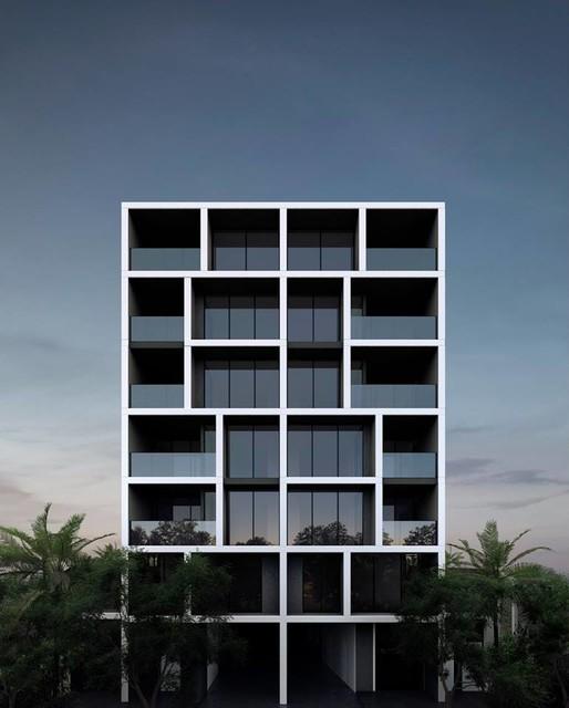 Apartment Exterior: Black Fold Apartments / West End