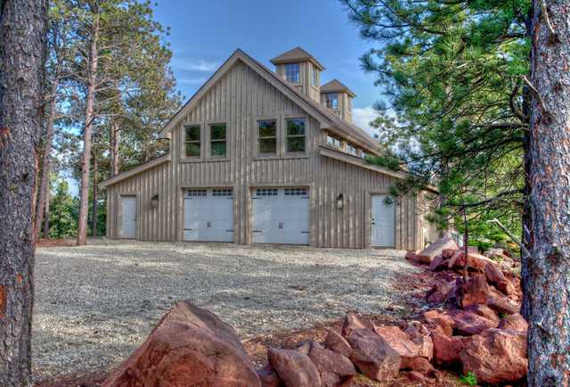 Black Hills Barn Home Rustic Exterior Other Metro By Sand