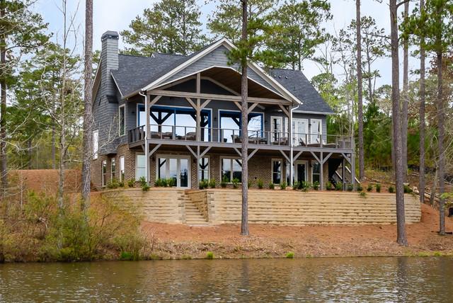 Blalock Lakes Custom Home Modern Exterior Atlanta