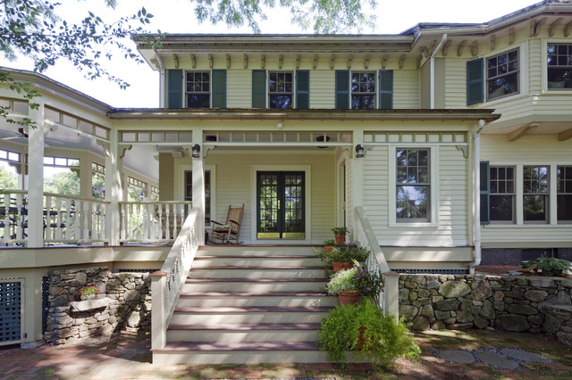 Blended family entry remodel traditional-exterior