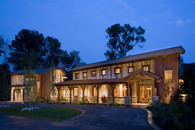 Blue Creek Ranch rustic-exterior