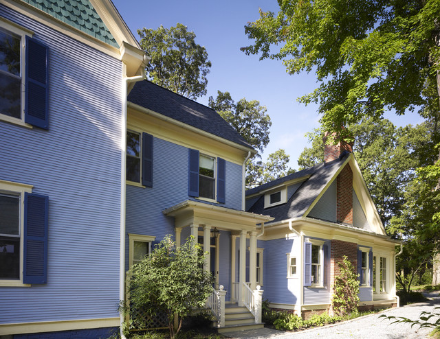 Blue Victorian traditional-exterior