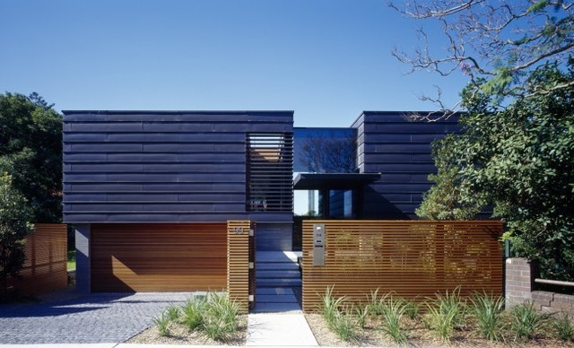 Bluestone and Zinc Architecture for Balmoral Home by Fox Johnston Architects contemporary-exterior