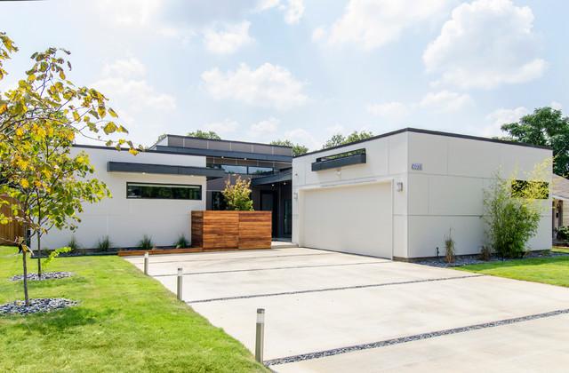 Bluffview contemporary exterior dallas by for Contemporary home builders dallas