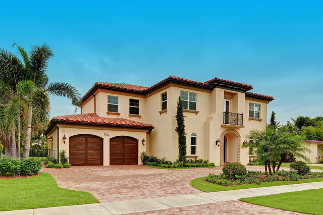 Boca raton florida custom spanish style residence for Florida mediterranean style homes