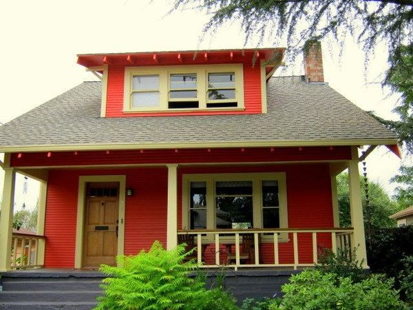 Bold color choices for a vintage bungalow traditional Bold house colors