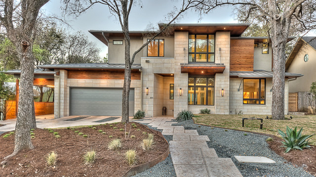 Bowman contemporary exterior austin by bryant hill for Contemporary homes austin