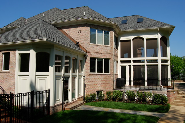 Bradley Blvd. Pool House and Porch traditional-exterior