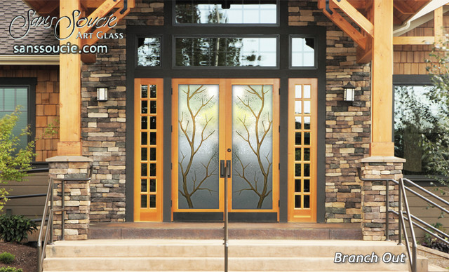 Branch Out Glass Front Doors   Exterior Glass Doors   Glass Entry Doors  Rustic Exterior Part 67