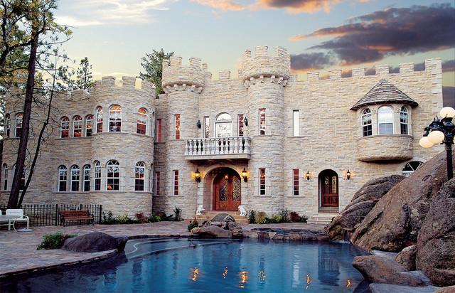 Breathtaking stone castle home coronado stone veneer for Castle home builders