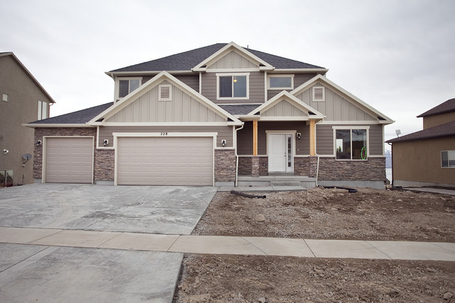 Breckenridge plan stillwater model home traditional exterior salt lake city by - House exterior paint images model ...