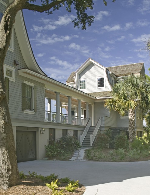 Breezeway victorian exterior charleston by for House plans with breezeway to guest house