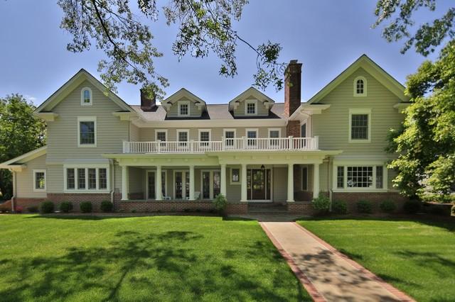 Brick and bluestone front porch traditional exterior for Bluestone front porch