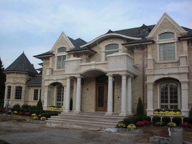 Brick And Limestone Veneer